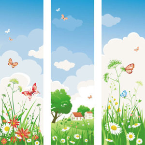 spring-of-banner-vector-26955