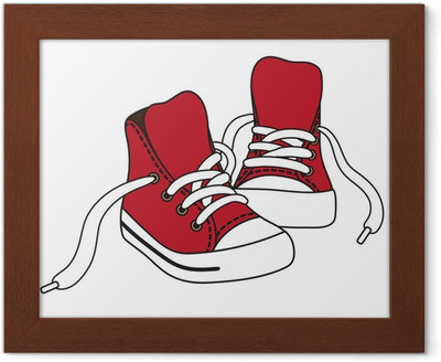 obrazki-w-ramach-vector-ilustracja-czerwone-trampki.jpg
