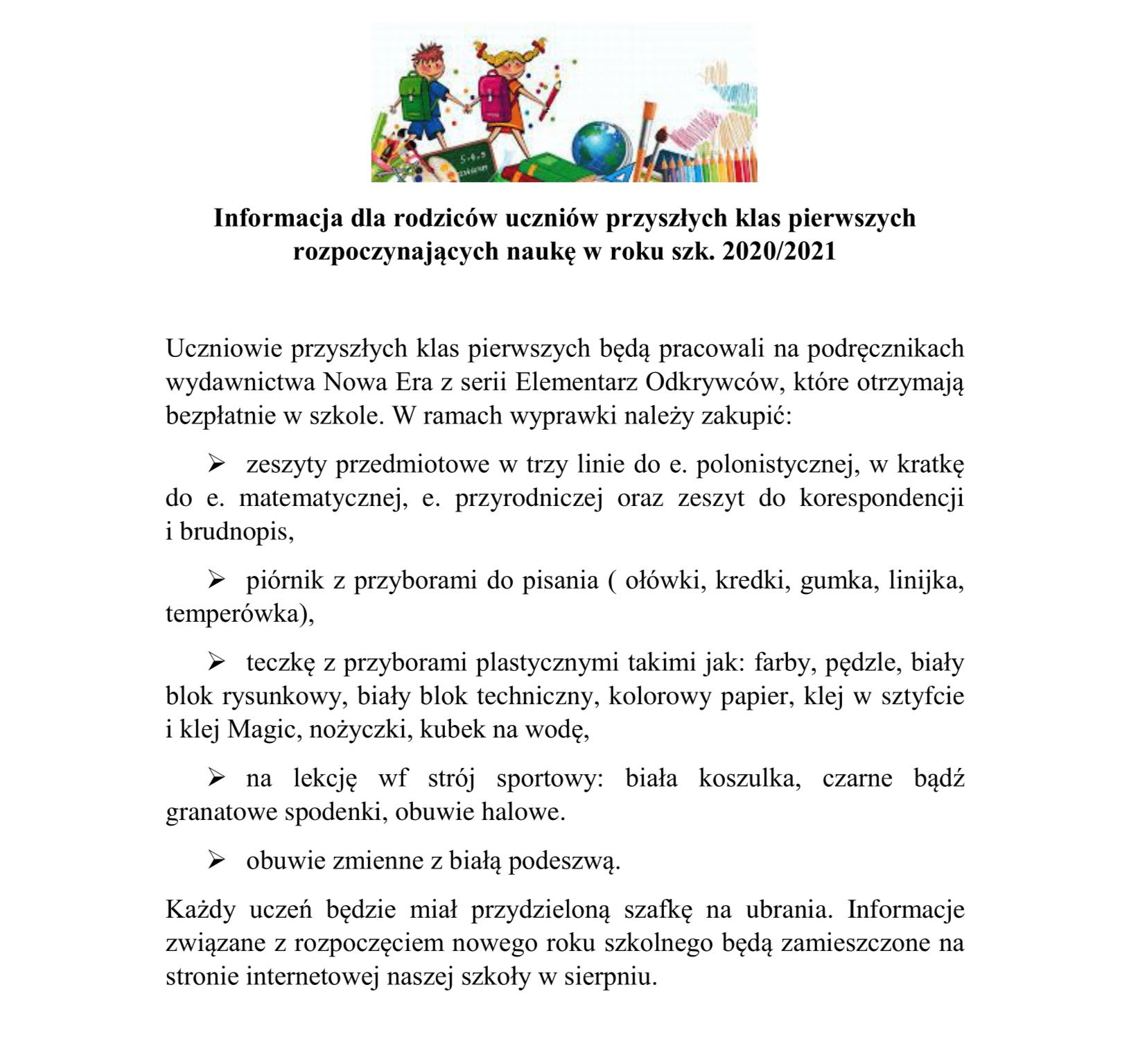 Info do rodziców kl. 1 2020 2021 (1)-1